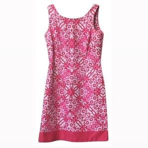 Just...Taylor Pink and White Casual Dress